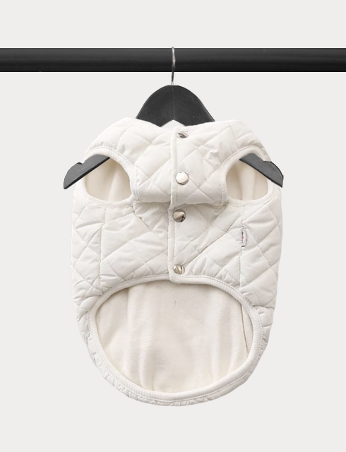 Diamond in the Ruff Quilted Vest - Cream