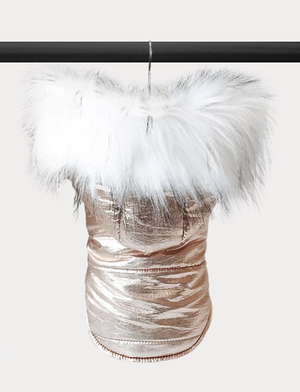 Metallic Snow Dog Coat