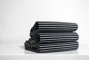 Movement Tee - Black and White Stripe