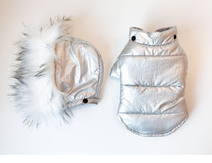 Metallic Snow Dog Coat - FURRY BETCH