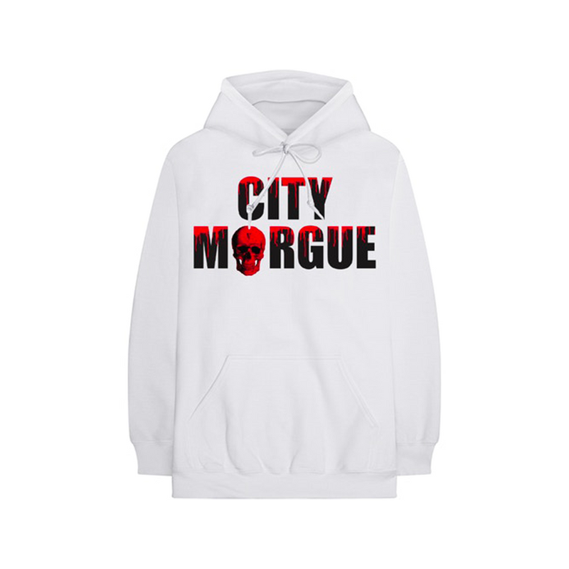 City Morgue x Vlone Dogs Hoodie White
