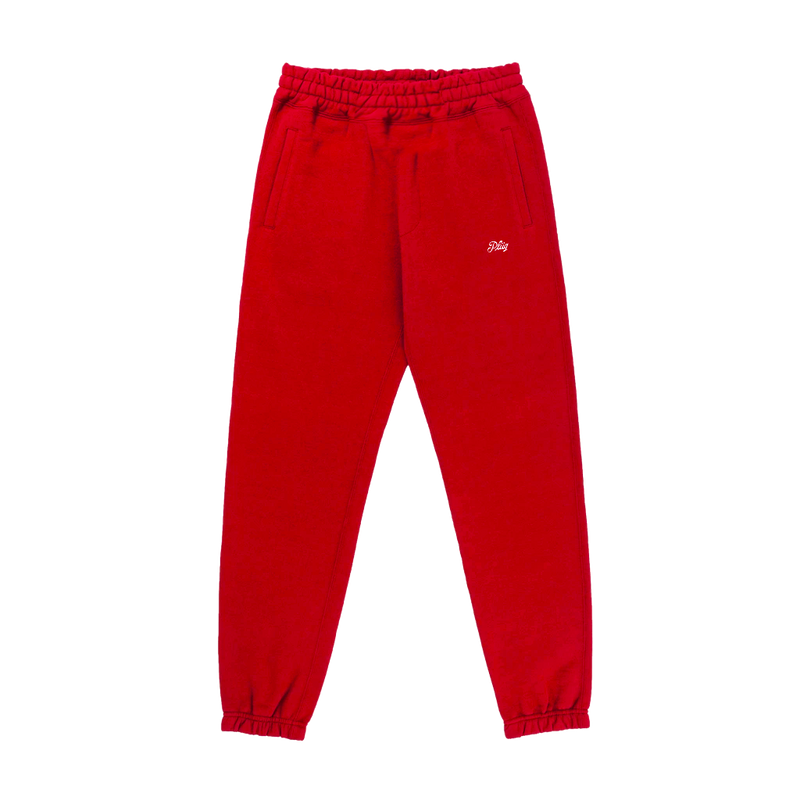 Logo Pants - Burgundy