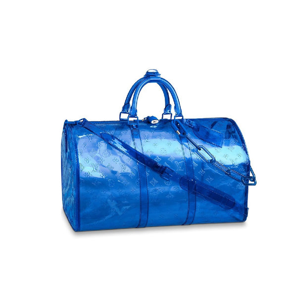 Louis Vuitton Keepall Monogram Bandouliere 50 Blue
