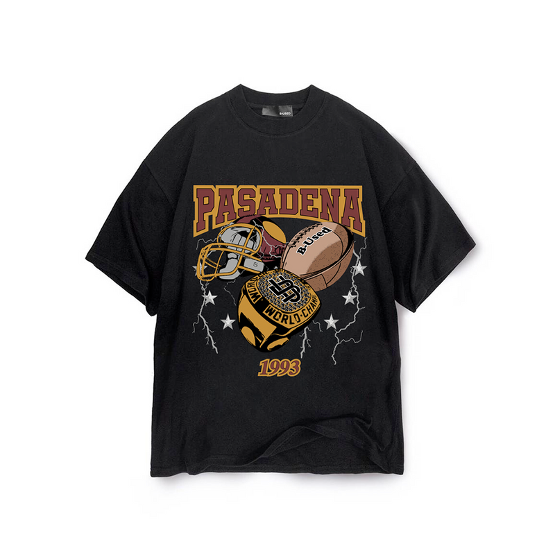 B-Used Pasadena T-Shirt Black
