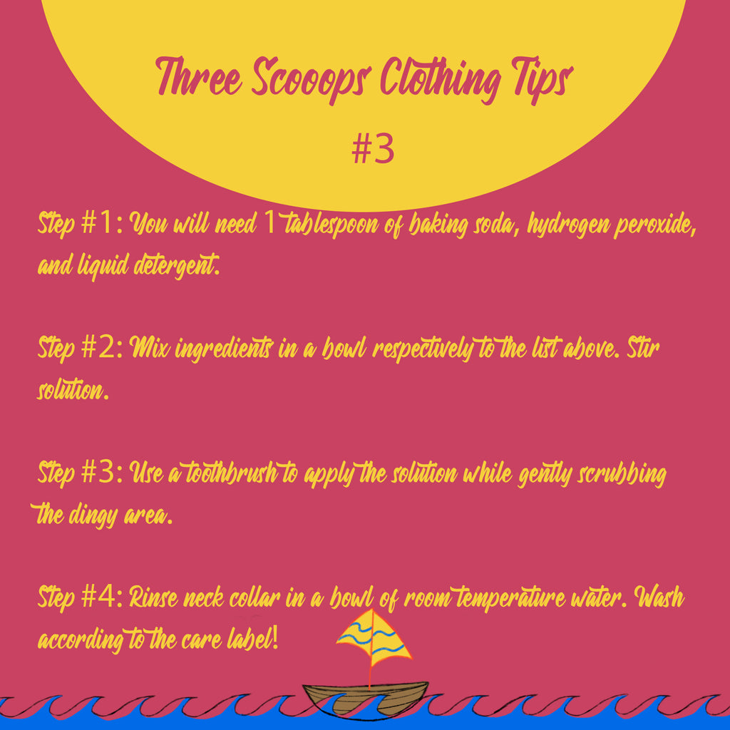 Three Scooops Clothing Tip #3