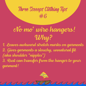 Three Scooops Clothing Tip #6