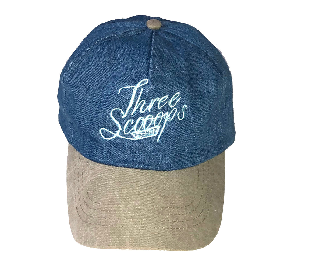 Three Scooops Denim Cap