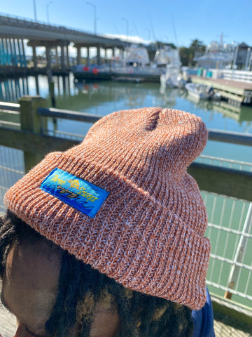 Three Scooops Salmon Beanie