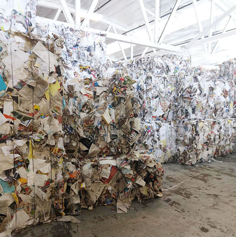 Paper recycling bales