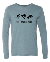 Load image into Gallery viewer, Ski Board Shred Long Sleeve Winter Sports T-shirt