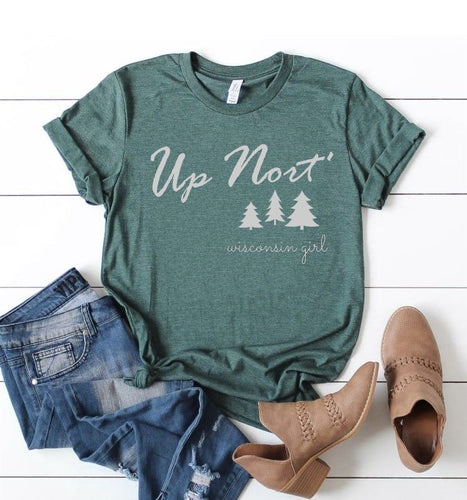 Up Nort' Wisconsin Girl Shirt