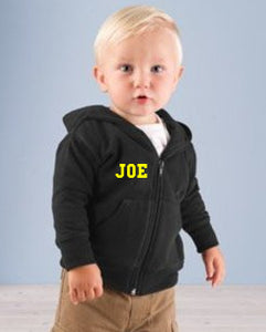 Custom Infant Zipper Hoodie