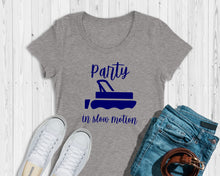 Load image into Gallery viewer, Party in Slow Motion Lake Living Ladies Triblend Shirt
