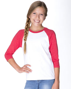 Personalized 3/4 Sleeve Youth Raglan Baseball Jersey