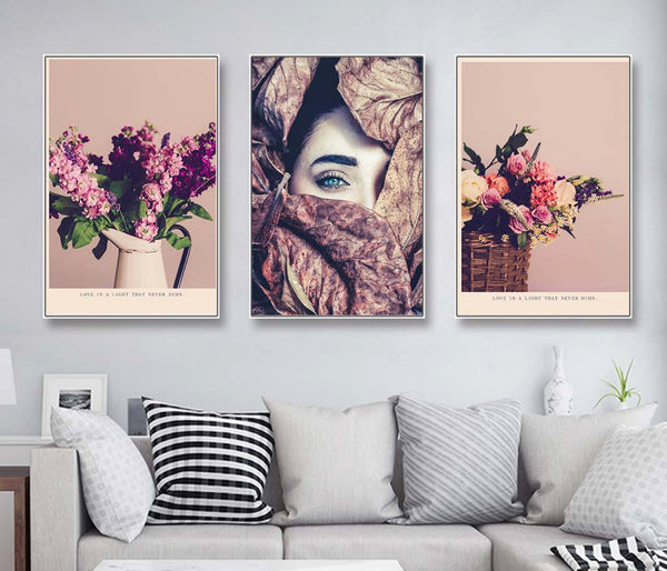 Beautiful style beauty flower decorative decorative canvas foam board kappa Wall Photos