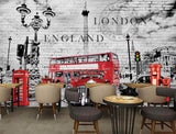 British style brick wall retro vintage bar background wallpaper