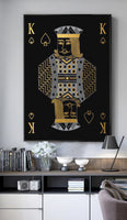 King playing cards canvas foam board kappa Wall Photos