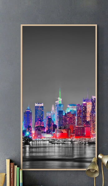 Metropolis Grey Architectural Industrial Style canvas foam board kappa Wall Photos
