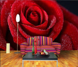 Latest red rose bed Wallpaper head background decorative mural design custom - sbp-art