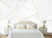 high-end atmospheric marble gold texture geometric mural Nordic background wallpaper - sbp-art
