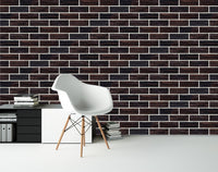 black 3D embossed HD solid brick wall background wallpaper three dimensional - sbp-art