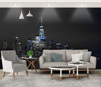 beautiful city exquisite night view tooling background wallpaper decoration painting - sbp-art