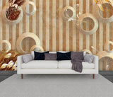 three dimensional Reeds marble background 3D mural background - sbp-art