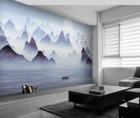Abstraction Ink Landscape Living Room Background Wallpaper Chinese Style Painting - sbp-art