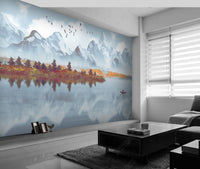 Modern Minimalist Ink Landscape background wallpaper Decoration Painting - sbp-art