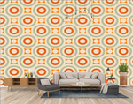 Retro design circles retro colors background wallpaper