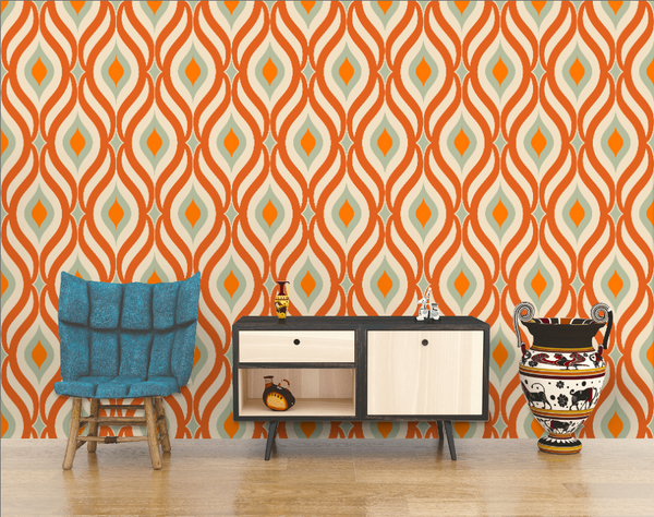 Retro design Arched shape retro colors background wallpaper