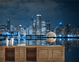 Skyline Of Chicago Wall Art Bedroom Wallpaper Wall Decor High Quality - sbp-art