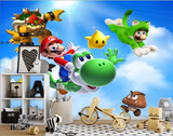 Super Mario and Luigi cartoon Odessy children's room background wall Kids