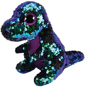 Beanie Boos - Crunch Green/Purple Flippable Sequin Dinosaur Medium