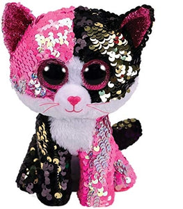 Beanie Boos - Malibu Pink/Black Flippable Sequin Cat Medium