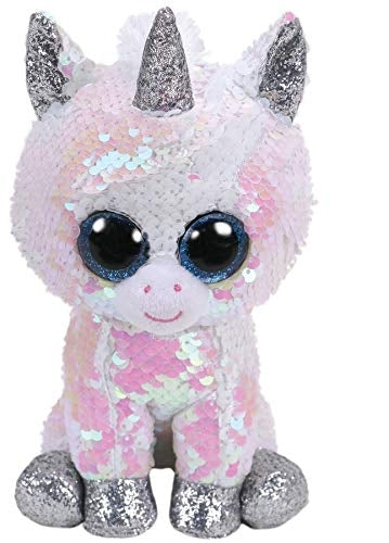 Beanie Boos - Diamond White Flippable Sequin Unicorn Medium