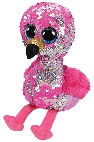 Beanie Boos - Pinky Flippable Sequin Flamingo Medium - Jouets Choo Choo