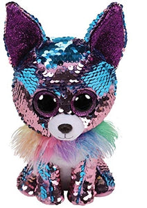 Beanie Boos - Yappy Blue/Purple Flippable Sequin Chihuahua Medium - Jouets Choo Choo
