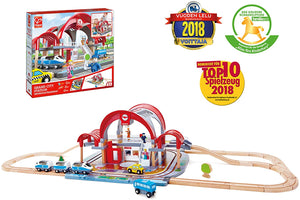 Hape - Grand City Station Educational Toys & Games