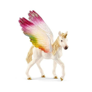 Winged rainbow unicorn, foal