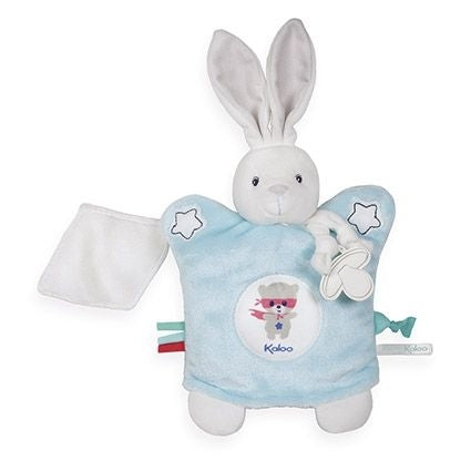 Imagine - Doudou Puppet Rabbit Aqua