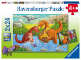 Ravensburger Dinosaurs at Play - 2 x 24 pc Puzzles