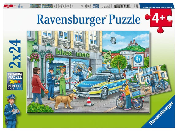 Ravensburger Police at Work! - 2 x 24 pc Puzzles