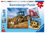 Ravensburger Diggers at Work - 3 x 49 pc Puzzles