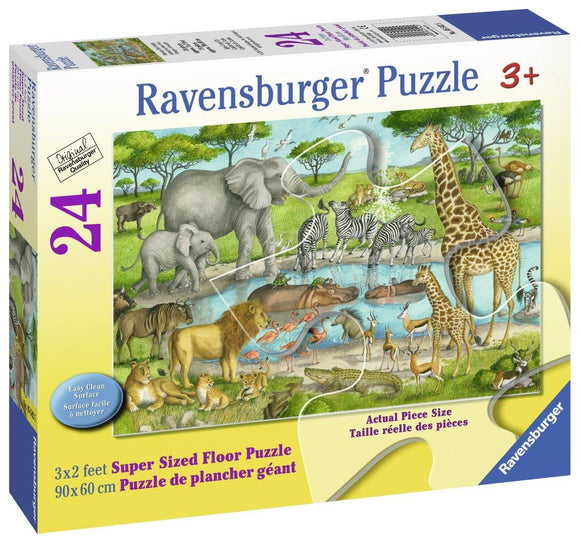 Ravensburger Watering Hole Delight - 24 pc Floor Puzzles
