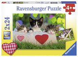 Ravensburger Sleepy Kitten - 2 x 24 pc Puzzles
