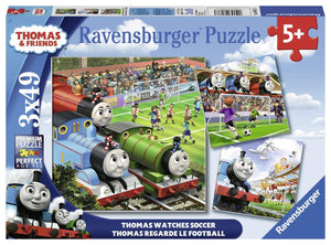 Ravensburger Thomas Watches Soccer - 3 x 49 pc Puzzles