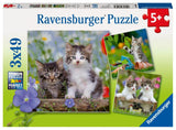 Ravensburger Cuddly Kittens - 3 x 49 pc Puzzles