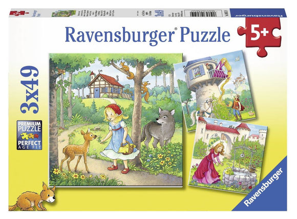 Ravensburger Rapunzel, Red Riding Hood, Frog King - 3 x 49 pc Puzzles