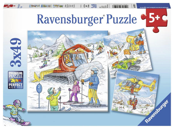 Ravensburger Let's Go Skiing! - 3 x 49 pc Puzzles